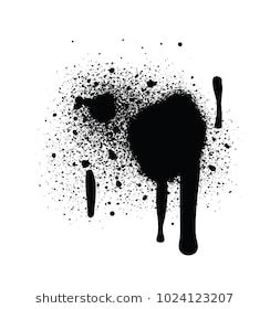 Realistic Grunge Graffiti Spray Paint Effect Isolated On White Background Abstract Vector Graphic Template Vector Illustrat Graffiti Spray Paint Graffiti Art