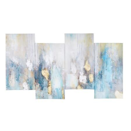 18 X38 Abstract Paint Staggered Canvas Wall Art Christmas Tree Shops Andthat Canvas Wall Art Art Painting
