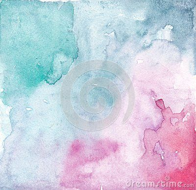 Watercolor Pink Turquoise Background Texture Colourful Background