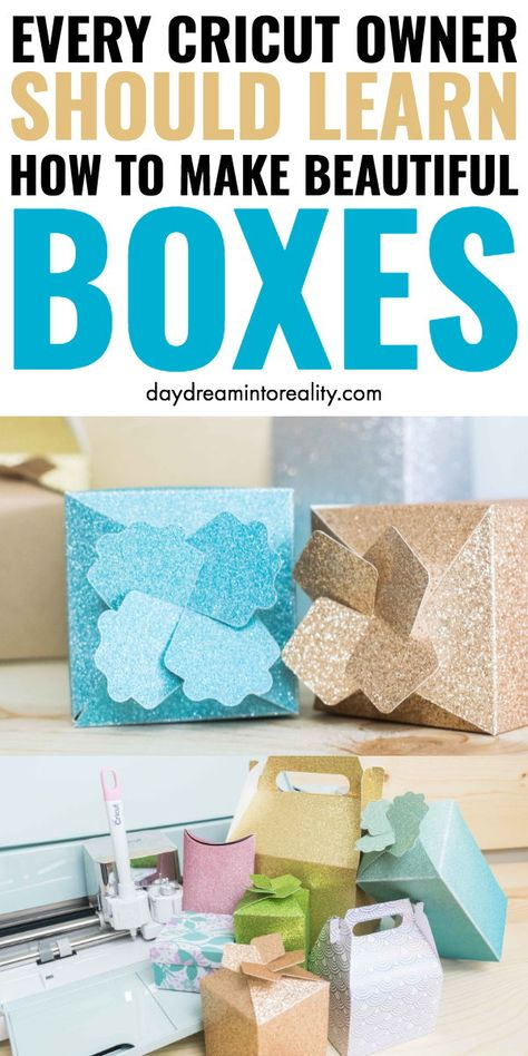 Frittierbox:Frittierbox:How to create and assemble beautiful boxes with your Cricut + Free templates cricut .How to create and assemble beautiful boxes with your Cricut + Free templates cricutprojects Hello Daydreamers! Today you will learn how Cricut Ideas, Cricut Tutorials, Clay Tutorials, Paper Gift Box, Paper Gifts, Gift Boxes, Paper Boxes, Excel Tips, Paper Box Template