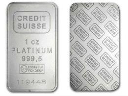 1 Ounce Credit Suisse Platinum Bar In 2020 Credit Suisse Gold Bullion Bars Platinum Price