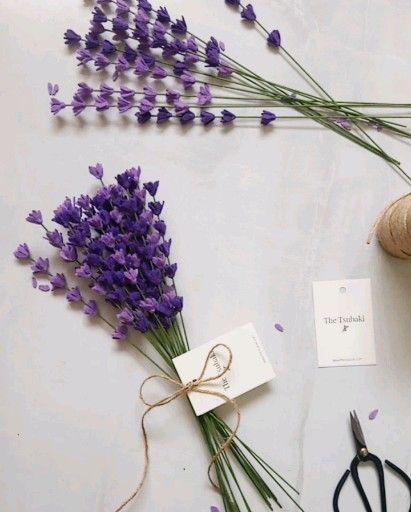 Lavender Bouquet Bouquet Lavender In 2020 Paper Flower Bouquet Diy Lavender Flowers Diy Flower Bouquet Diy