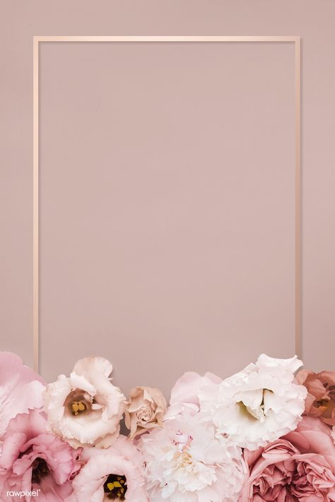 Beautiful pink floral rectangle frame | premium image by rawpixel.com / eyeeyeview #picture #photography #inspiration #photo #art #frame