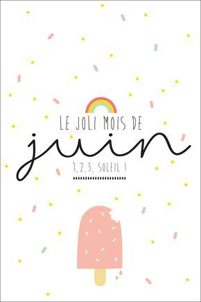 Carte Postale Juin2 Carte A Imprimer Calendrier Mois Et Calendrier