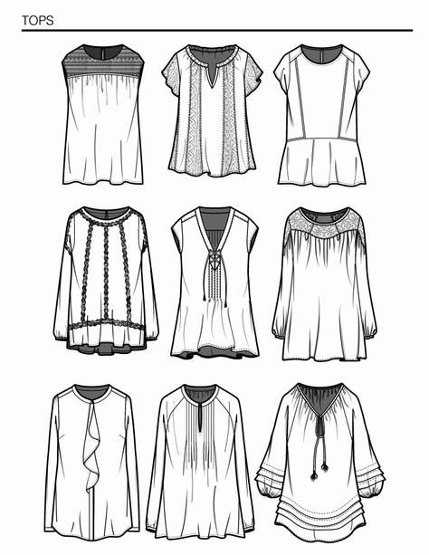 Designs and flat sketches for Nordstrom Product Group.