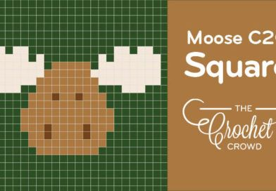 Crochet Moose Corners to Corner (C2C) Pictorial Squares for Afghans