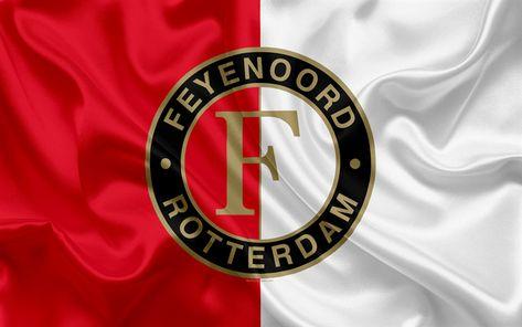 Download wallpapers Feyenoord, Eredivisie, 4K, Dutch football club, football, emblem, Feyenoord logo, Rotterdam, Netherlands