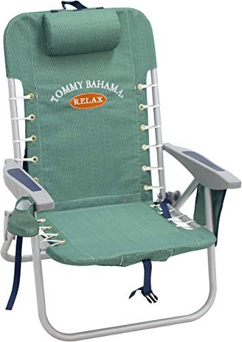 Great For Tommy Bahama Asc529tb 217 1 Lace Up Backpack Beach Chair 4 Positions Solid Fashion Backpack Beach Chair Backpacking Chair Tommy Bahama Beach Chair