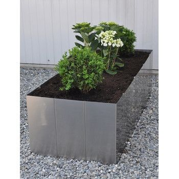 Edelstahl Hochbeet Square 160 50cm Hohe Plants Planters Potted Plants