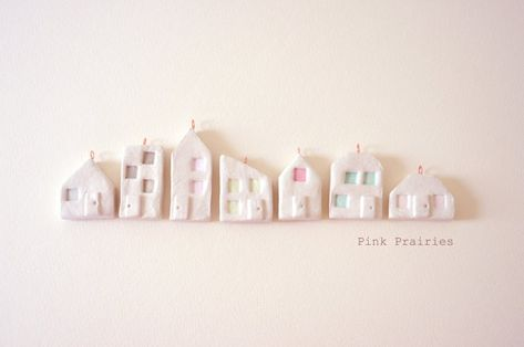 Little Clay Houses / Airdry Clay Miniature Hoses by pinkprairies, $42.00