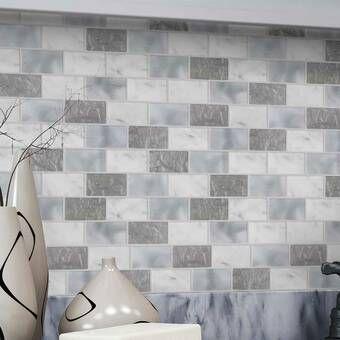 Bellagio 10 X 10 Gel Peel Stick Mosaic Tile In 2021 Peel And Stick Tile Peel Stick Backsplash Mosaic Tiles