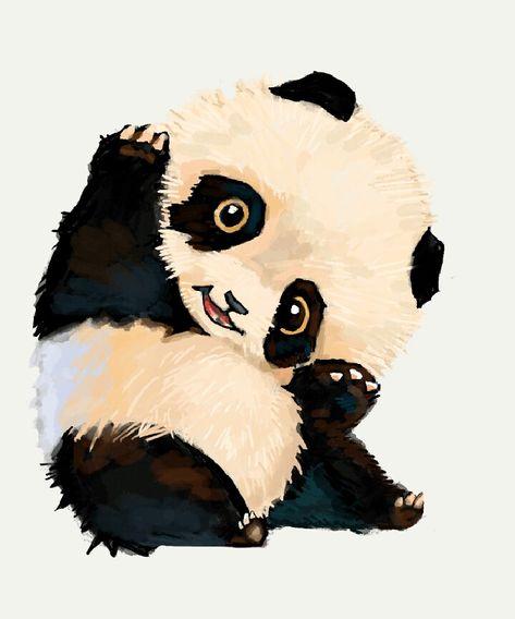 Petit Panda Fait Par Moi Alline Dessin Et Peinture En