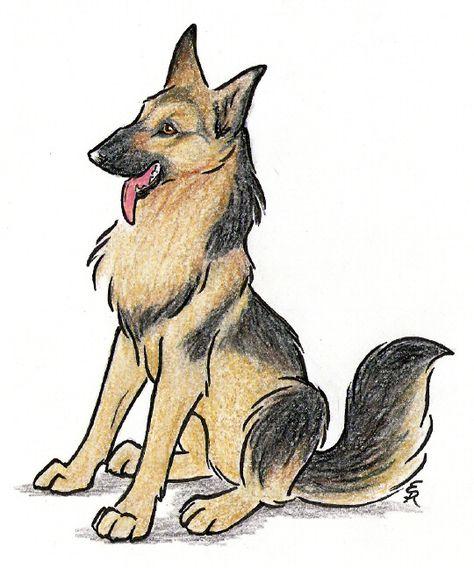 Happy German Shepherd By Wildspiritwolf On Deviantart Art