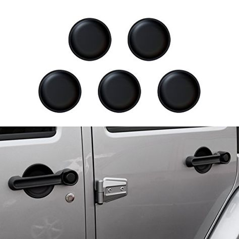 Icars Matt Black Dish Shaped Door Handle Recess Guard Inserts Accessories For 2007 2008 2009 2010 2011 2012 2 Jeep Wrangler 2017 Jeep Wrangler Jeep Wrangler Jk