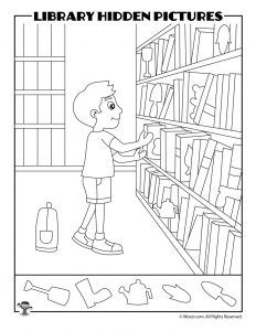 Printable Library Activities Coloring Pages Word Puzzles Hidden Pictures Woo Jr Kids Activities Library Activities Hidden Pictures Hidden Picture Puzzles