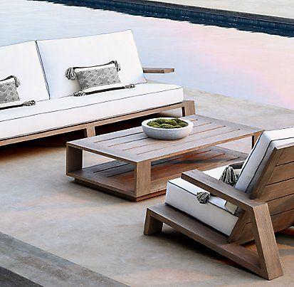 Olema Furniture Collection Weathered Grey Teak Rh Teak Lounge Chair Teak Sofa Furniture