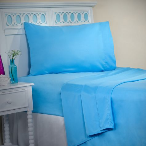 Lavish Home Series 1200 3 Piece Twin Sheet Set - Purple