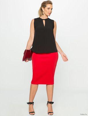 ab37be60f Faldas y Blusas para Gorditas | moda en 2019 | Faldas, Blusas y Vestidos