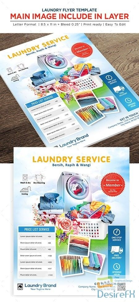 Laundry Services Flyer Business Flyer 22541864 Brosur Desain