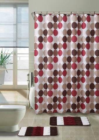 Lucien 3 Piece Shower Curtain Set