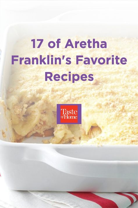 It's said that the only thing Aretha Franklin loves as much as soul music is soul food.