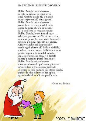 Filastrocca Di Babbo Natale.Babbo Natale Esiste Davvero Poesie Di Natale Natale Babbo Natale Parole Di Natale