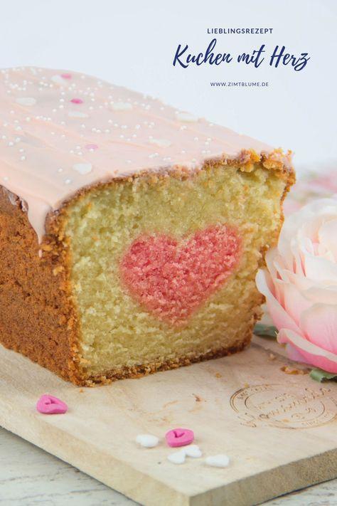 Kuchen Mit Herz Zum Valentinstag Rezept In 2020 Valentinstag Kuchen Kuchen Valentins Backen