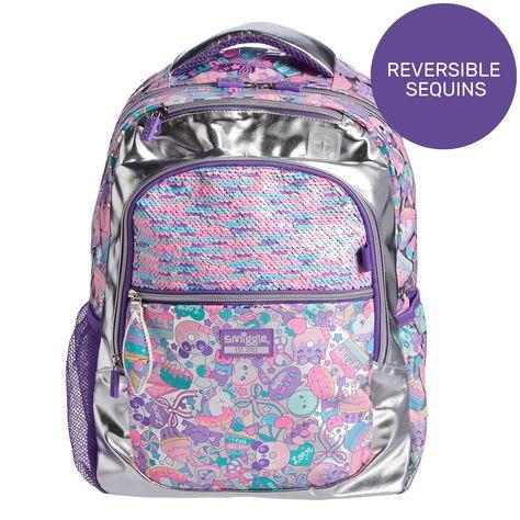 Smiggle Believe Kids School Backpack for Girls /& Boys Unicorn Print Brand New