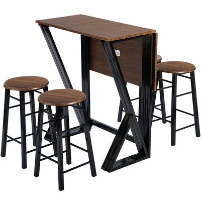 Williston Forge Aldora 5 Piece Counter Height Drop Leaf Dining Set