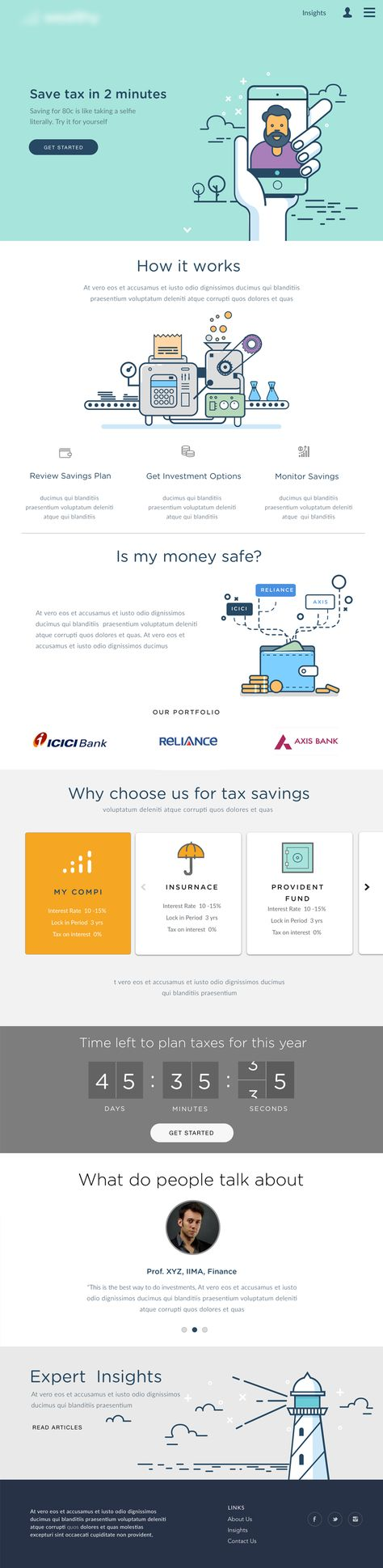 Great example of a simple landing page.