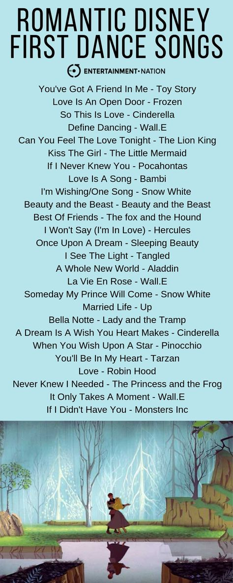 The most romantic Disney songs that would be perfect for your first dance! ✨ #firstdance #weddingplanning #disney