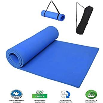 Qatalyze Extra Thick 8mm Tpe Non Slip Strong Grip Yoga Exercise Mat With Cover Bag And Strap For Men And Women 183cm In 2020 Mat Exercises Yoga Mat Yoga Accessories