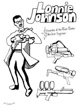Lonnie Johnson Coloring Page Coloring Pages Color Black History