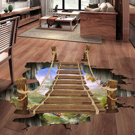 3D-Floor-Wall-Sticker-Removable-Bridge-Mural-Decals-Vinyl-Art-Living-Room-Decor