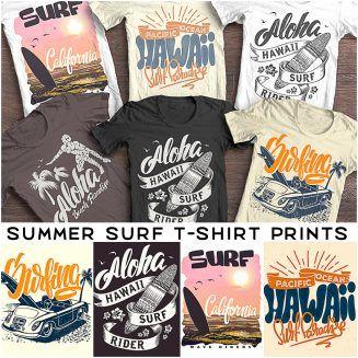 Summer Surf T Shirt Print Free Download Surf Tshirt Free T Shirt Design Tshirt Print