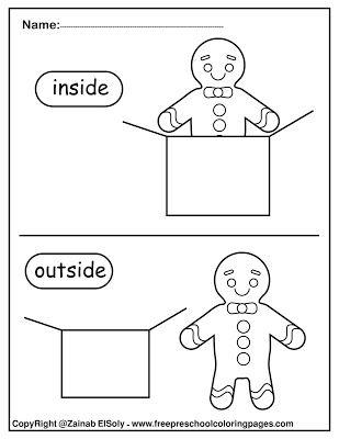 Set Of Gingerbread Man Opposites For Kids Opposites For Kids English Activities For Kids Free Preschool Worksheets