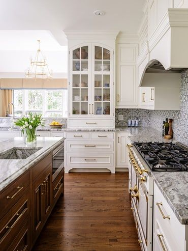 Kitchen With Glass China Cupboard Kitchen Traditionalneoclassical
