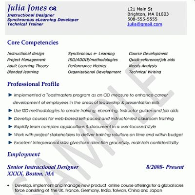 Instructional Designer Sample Resume Instructional Design - instructional design resume