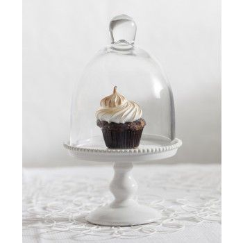 Mini Glass Dome Perfect For Cupcakes Or, Mini Glass Cupcake Stand With Dome