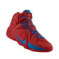 I designed the university red Nike LeBron 12 iD men's basketball shoe with  photo blue trim