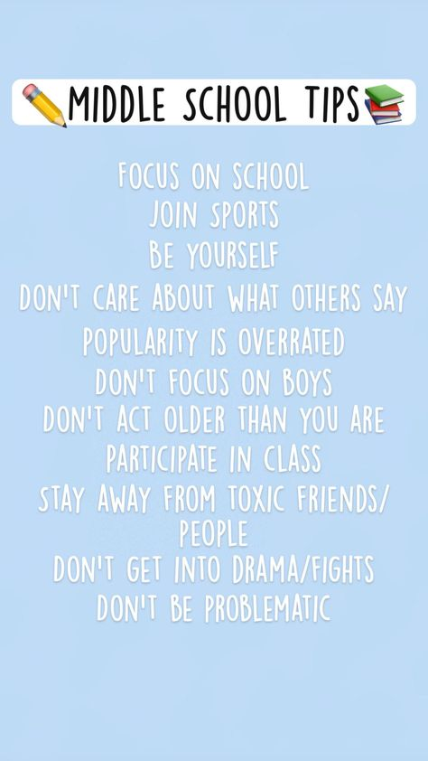 ✏️Middle School Tips📚