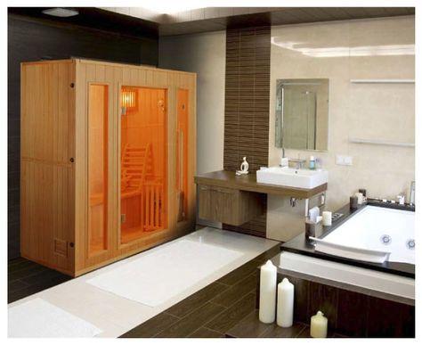 salle de bain avec sauna | home sauna | pinterest | saunas - Salle De Bain Avec Sauna