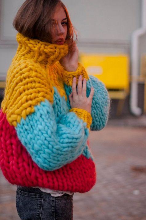 Chunky sweater with heart. Chunky sweater with heart.