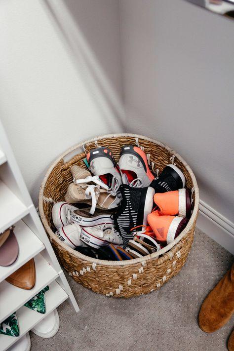 shoe organization closet organization shoe storage ideas dani austin Is It Really Kids Shoe Storage, Closet Storage, Cheap Storage, Shoe Storage Kmart, Shoe Storage In Living Room, Bedroom Storage, Shoe Storage Basket, Shoe Organizer Entryway, Shoe Basket