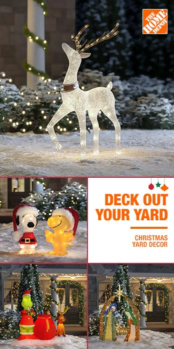 Deck Out Your Yard With Illuminated Outdoor Christmas Decor Sure To Make Your House The Most Christmas Yard Decorations Christmas Decorations Outdoor Christmas