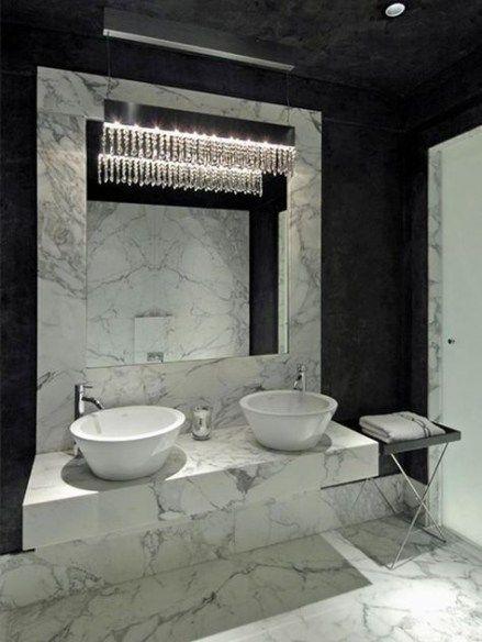 63 Ideas Bathroom Black Marble Chandeliers Bathroom White Marble Bathrooms Marble Bathroom Designs White Bathroom Decor