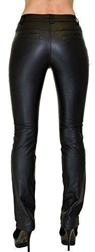 Damen Lederhose Damen Hose Leder Optik in aktuellen Farben und Designs by-tex