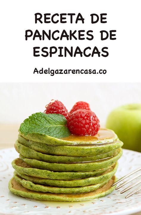 Pancakes de espinacas para el desayuno - Adelgazar en casa