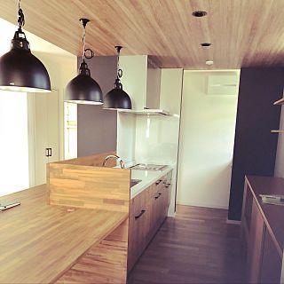 Wr Tsbさんのキッチン 照明 カフェ風 造作キッチン アレスタ 初投稿についての部屋写真 造作キッチン アレスタ 造作