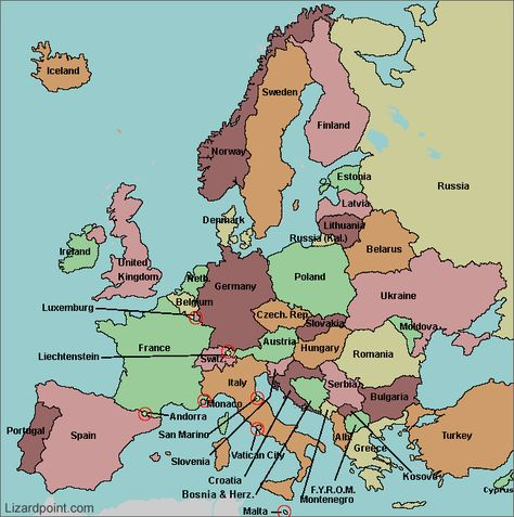 map of Europe with countries labeled   Homeschool General ...